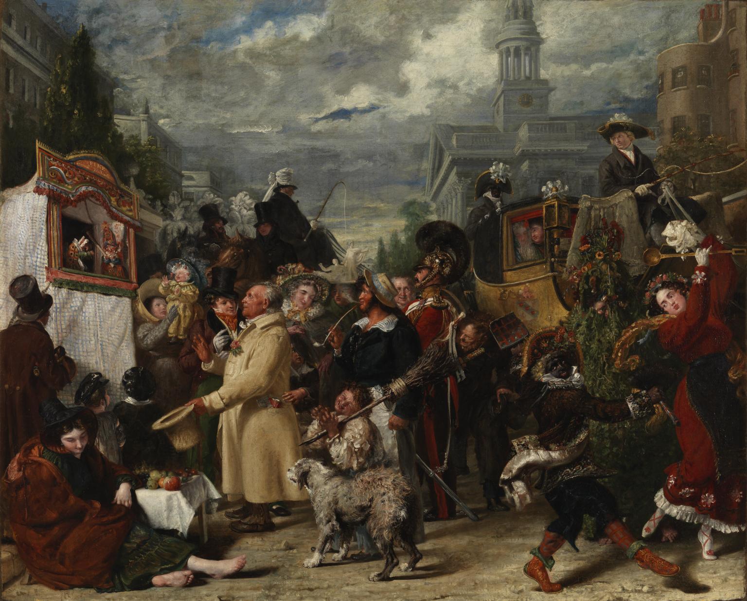 Punch or May Day 1829 by Benjamin Robert Haydon 1786-1846
