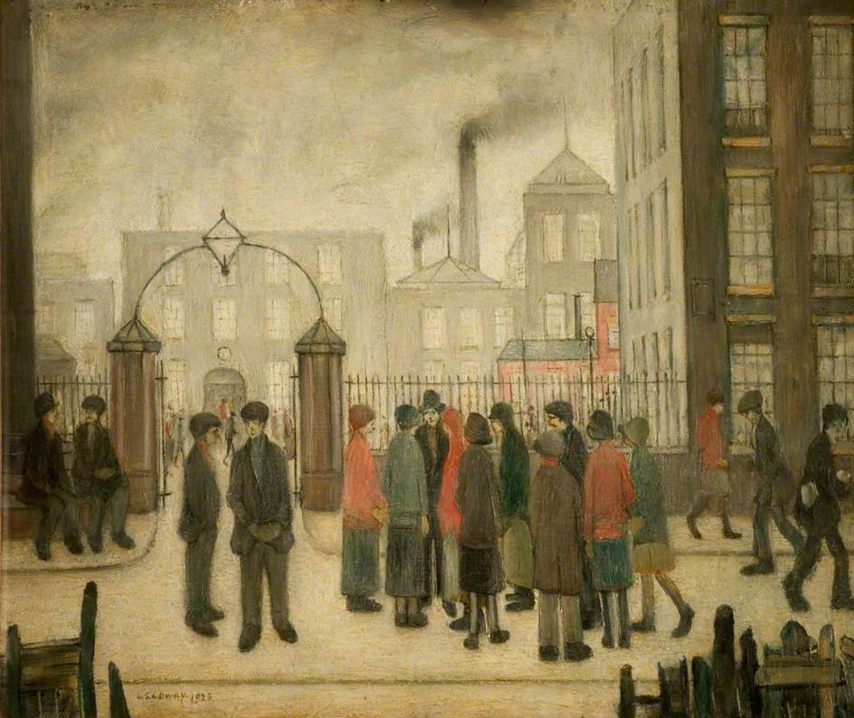 Lowry, Laurence Stephen, 1887-1976; The Mill Gates
