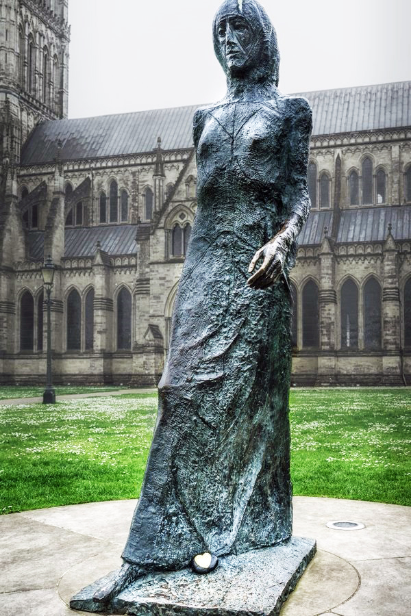 Frink Walking Madonna Salisbury Cathedral